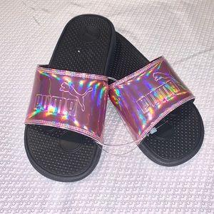 Pink puma slides